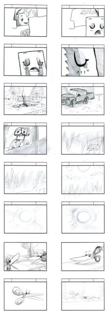Rock Paper Scissors Storyboards